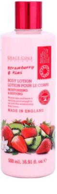Grace Cole Fruit Works Strawberry & Kiwi vlažilni losjon za telo brez parabenov