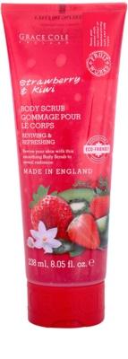 Grace Cole Fruit Works Strawberry & Kiwi osvěžující tělový peeling