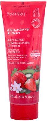 Grace Cole Fruit Works Strawberry & Kiwi osviežujúci telový peeling