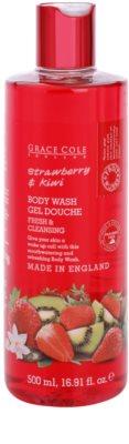 Grace Cole Fruit Works Strawberry & Kiwi osvežujoč gel za prhanje brez parabenov