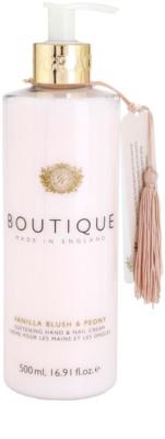 Grace Cole Boutique Vanilla Blush & Peony zjemňujúci krém na ruky a nechty
