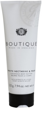 Grace Cole Boutique White Nectarine & Pear luxuriöse Körperbutter