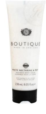 Grace Cole Boutique White Nectarine & Pear rozjasňujúci telový peeling