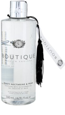 Grace Cole Boutique White Nectarine & Pear beruhigendes Bade - und Duschgel