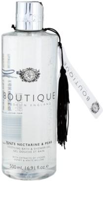 Grace Cole Boutique White Nectarine & Pear upokojujúci kúpeľový a sprchový gél