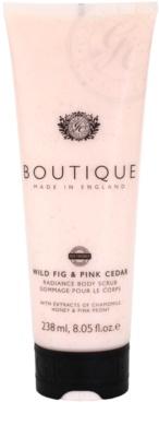 Grace Cole Boutique Wild Fig & Pink Cedar exfoliant pentru corp cu efect de iluminare