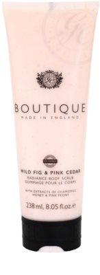 Grace Cole Boutique Wild Fig & Pink Cedar rozjasňujúci telový peeling