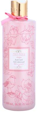 Grace Cole Floral Collection White Rose & Lotus Flower pena do kúpeľa