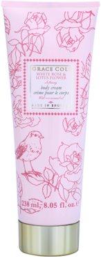 Grace Cole Floral Collection White Rose & Lotus Flower crema de corp