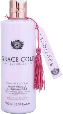 Grace Cole Boutique Warm Vanilla & Sandalwood nawilżające mleczko do ciała