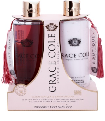 Grace Cole Boutique Warm Vanilla & Sandalwood kozmetični set I.