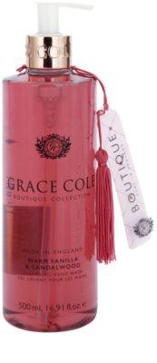 Grace Cole Boutique Warm Vanilla & Sandalwood sabonete líquido para mãos