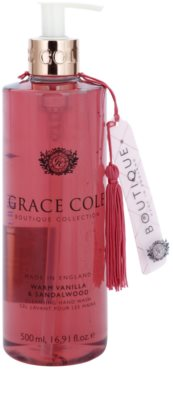 Grace Cole Boutique Warm Vanilla & Sandalwood tekuté mydlo na ruky