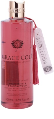 Grace Cole Boutique Warm Vanilla & Sandalwood gel de duche e banho suave