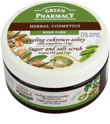 Green Pharmacy Body Care Argan Oil & Figs cukrovo-solný peeling
