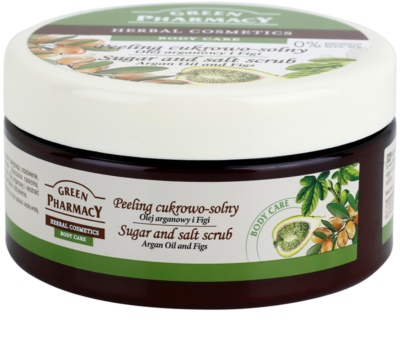 Green Pharmacy Body Care Argan Oil & Figs exfoliante a base de azúcar y sal 1