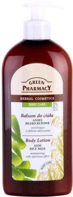 Green Pharmacy Body Care Aloe & Rice Milk hidratáló testápoló tej tápláló hatással