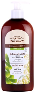 Green Pharmacy Body Care Aloe & Rice Milk leite corporal hidratante com efeito nutritivo