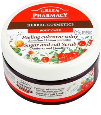 Green Pharmacy Body Care Cranberry & Cloudberry cukrovo-solný peeling