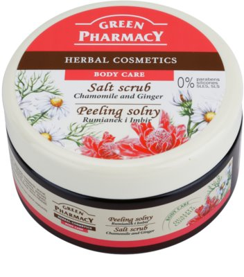 Green Pharmacy Body Care Chamomile & Ginger exfoliante de sal