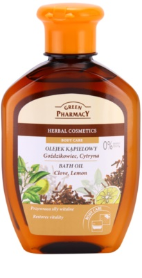 Green Pharmacy Body Care Clove & Lemon ulei pentru baie