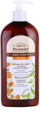 Green Pharmacy Body Care Calendula & Green Tea verjüngende Bodymilch mit stärkender Wirkung