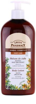 Green Pharmacy Body Care Olive & Argan Oil odżywcze mleczko do ciała o dzłałaniu nawilżającym