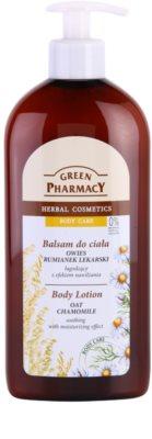 Green Pharmacy Body Care Oat & Chamomile nyugtató testápoló tej hidratáló hatással