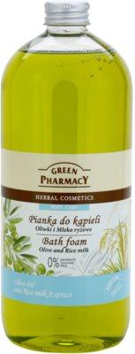 Green Pharmacy Body Care Olive & Rice Milk pena za kopel