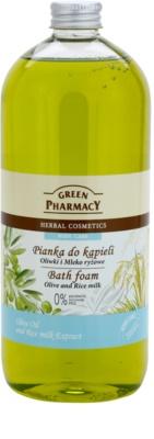 Green Pharmacy Body Care Olive & Rice Milk spuma de baie