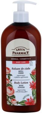 Green Pharmacy Body Care Rose & Ginger regeneracijski losjon za telo z učvrstitvenim učinkom