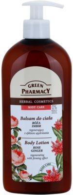 Green Pharmacy Body Care Rose & Ginger regenerierende Körpermilch mit festigender Wirkung