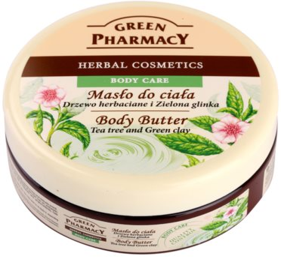 Green Pharmacy Body Care Tea Tree & Green Clay unt  pentru corp