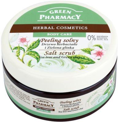 Green Pharmacy Body Care Tea Tree & Green Clay exfoliante de sal