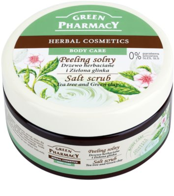 Green Pharmacy Body Care Tea Tree & Green Clay скраб със сол