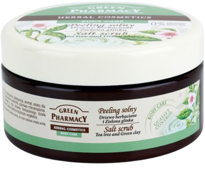 Green Pharmacy Body Care Tea Tree & Green Clay скраб със сол 1