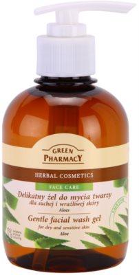 Green Pharmacy Face Care Aloe nežni čistilni gel za občutljivo in suho kožo
