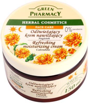 Green Pharmacy Face Care Calendula освежаващ хидратиращ крем за дехидратирана суха кожа