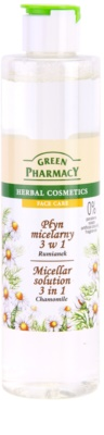 Green Pharmacy Face Care Chamomile apa cu particule micele 3 in 1