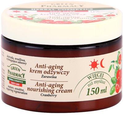 Green Pharmacy Face Care Cranberry подхранващ крем против стареене на кожата 1