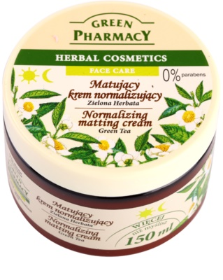 Green Pharmacy Face Care Green Tea mattierende Creme für fettige und Mischhaut