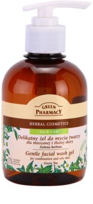 Green Pharmacy Face Care Green Tea sanftes Reinigungsgel für fettige und Mischhaut