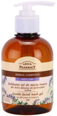 Green Pharmacy Face Care Sage gyengéd tisztító gél az arcra irritáció ellen