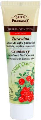 Green Pharmacy Hand Care Cranberry vlažilna krema za roke in nohte s posvetlitvenim učinkom