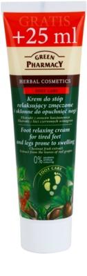 Green Pharmacy Foot Care entspannende Creme für müde Fußsohlen und Füße mit Neigung zu Schwellungen.