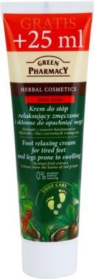 Green Pharmacy Foot Care розслабляючий крем для втомлених ніг схильних до набряків
