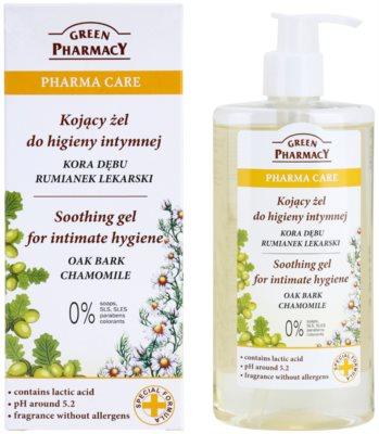 Green Pharmacy Pharma Care Oak Bark Chamomile nyugtató gél intim higiéniára 1
