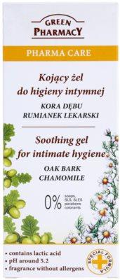 Green Pharmacy Pharma Care Oak Bark Chamomile nyugtató gél intim higiéniára 2