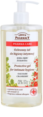 Green Pharmacy Pharma Care Oak Bark Cranberry ochranný gél na intímnu hygienu
