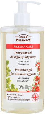Green Pharmacy Pharma Care Oak Bark Cranberry zaščitni gel za intimno higieno